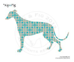 Greyhound dog applique template pdf applique pattern by KipandFig, £2.00