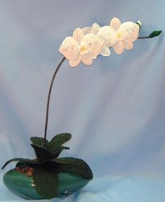 Large Moth Orchid  French Bead Flower Pattern at Sova-Enterprises.com Many FREE Bead Patterns and Tutorials available!
