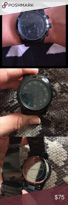 Michael Kors Watch Michael Kors all black watch. It is Unisex so can be worn by women and men. Looks very sleek and modern. Like new worn only once. Michael Kors Accessories Watches