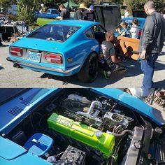 J from Datsun Garage discussing this 400 hp 3.0 turbo 240z with owner Robert Austin #datsun240z #Datsun #240z #turbo #Nissan #NOS #nitrous #zcar