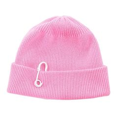 Tibi Candy Pink Cashmere Wool Beanie (490 PEN) ❤ liked on Polyvore featuring accessories, hats, candy pink, fold beanie, beanie caps, pink hats, pink beanie hats and cashmere beanie