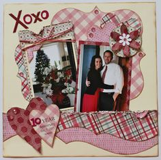 Love / Anniversary 1-Page Layout.  Perfect for Valentine's Day