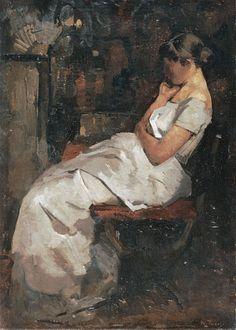 Girl in White - Willem de Zwart 1889Dutch painter 1862-1931