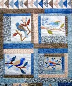 Botanical Birds Wall Quilt attern $13.50 on The Hen House at http://thehenhousemi.com/item-1464.php