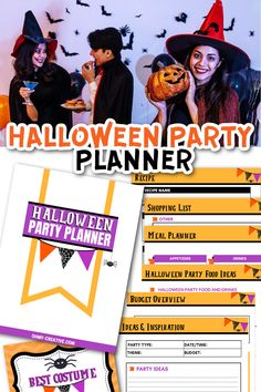 Party Food And Drinks, Food Names, Halloween Food For Party, Holiday Crafts, Holiday Decor, Meal Planner, Cool Costumes, Diy Party, Hostess Gifts