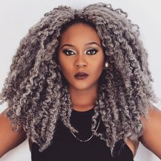 Image result for natural gray hair african american young