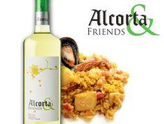 Una #tapa de lujo, paella. Sin duda un clásico que con nuestro vino blanco #Alcorta & Friends combina a las mil maravillas, ¿quién se apunta?