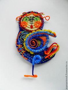 Птица Сирин - синий,птица Сирин,ПТИЦА УДАЧИ,декор интерьера,подвеска на шнуре