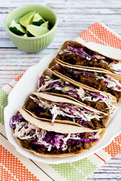 flank steak tacos Flank steak gets spicy and tender in the slow cooker or Instant Pot, and then you make it into these Low-Carb Flank Steak Tacos with Spicy Mexican Slaw. Best Instant Pot Recipe, Instant Pot Dinner Recipes, Instant Pot Pressure Cooker, Pressure Cooker Recipes, Pressure Cooking, Flank Steak Tacos, Potted Beef Recipe, Slow Cooker Tacos, Mexican Food Recipes