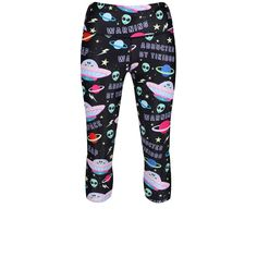 For Cyberpower In The Gym, Tikiboo Created Alien Abduction Lycra Pants In A Supportive Capri Length. Featuring The Flying Tikiship And Friendly Extra-terrestrials On An Opaque Base, They're Totally Out Of This World. 100 Squats, Alien Abduction, Extra Terrestrial, Cosmic, Cyber, Sculpting, Workouts, Capri, Pajama Pants