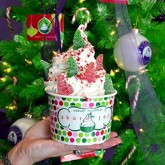 "@yogurtmountain's photo: ""You could win a $50 YOMO gift card! Decorate your YOMO creation for the Holidays and share it using #yomoholiday before Christmas. We'll choose five winners! #yogurtmountain"""