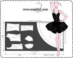 Instrucciones de corte patrones cosplay Misa Amane (Death Note)-- Cutting instructions Misa Amane cosplay patterns