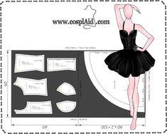 Instrucciones de corte patrones cosplay Misa Amane (Death Note)-- Cutting instructions Misa Amane cosplay patterns