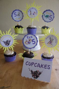 Tangled Sun Cupcake Wrappers by LollipopParty on Etsy, $7.50