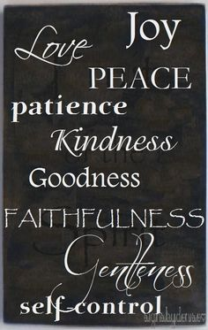 Fruit of the Spirit - Galatians 5:22-23 - Scripture Sign - Love, Joy, Peace.... $48.00, via Etsy.