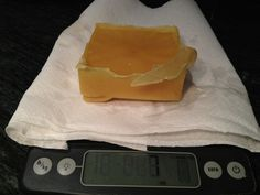 Place your wax on a scale to see how much you ended up with!