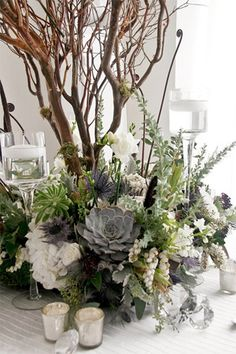 modern succulent wedding centrepiece - brides of adelaide