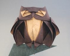 Origami Instruction Owl Best Of Ikuzo origami Part 6 – Origami Paper Folding Origami And Quilling, Origami And Kirigami, Origami Paper Art, Paper Crafts, Modular Origami, Origami Folding, Paper Folding, Japanese Origami, Paper Owls