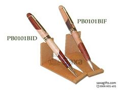 Bút ký gỗ in logo nắp xoay thân gỗ phối màu độc đáo – BG016