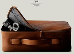 The new suitcase from Hardgraft.    Too. Gorgeous. Beautiful leather exterior, felt lining, simple elegant design.    Ridiculously expensive.