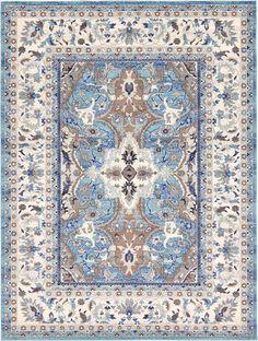 Light Blue 9' x 12' Heritage Rug | Area Rugs | eSaleRugs $349