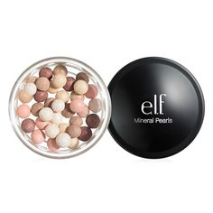 Indulge in a glistening sheer wash of color with illuminating, radiant e. Cosmetics Mineral Pearls, designed to complement any skin tone. Six multi-colored pearls blend together to mattify skin for a flawless, radiant look. Drugstore Makeup, Makeup Brands, Best Makeup Products, Elf Products, Beauty Products, Hair Products, Cleopatra Beauty Secrets, French Beauty Secrets, Beauty Tips