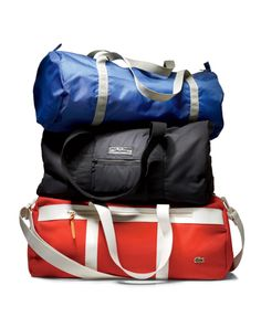 It's a Workout, Not a Long Weekend Don't be the guy carrying around a giant duffel with only a shirt, shorts, and shoes inside. Gq, Workout Gear For Men, Workout Wear, Man Purse, Gym Style, Men's Style, Mens Fitness, Fitness Gifts, Fitness Gear