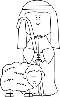 free christmas coloring pages manger shepherds wiseman | The Good Shepherd (The Lost Sheep) | Coloring And Activity ...