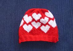 Valentine& Day is coming! Only 12 knitting days left before one of my favorite holidays (for chocolate reasons). I'm currently wo. Knitting Patterns Free, Knit Patterns, Free Knitting, Free Pattern, Knitted Heart Pattern, Crochet Kids Hats, Knit Crochet, Knit Hats, Knitting Yarn