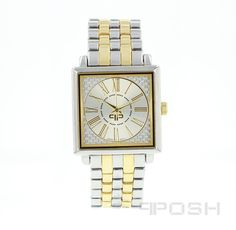 Product Product Category POSH Time Pieces - Classic square face design - Plated in gorgeous - Face features exclusive Selling On Pinterest, Elegant Watches, Face Design, Watch Sale, Bracelet Designs, Luxury Jewelry, Fashion Watches, Gold Watch