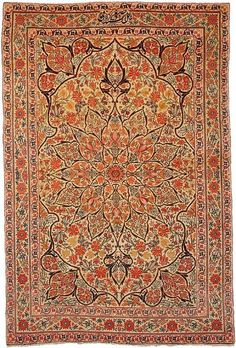 "Kerman 4'2"" x 6'4"" Circa 1880 South Persia Ref no. 46 {rugs, carpets, traditional, home collection, decor, warp & weft}"