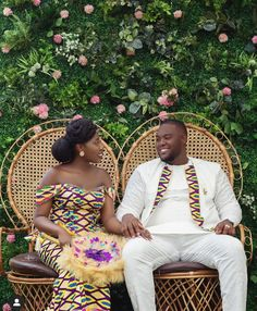Marriage Marriage Source by NanaMaison African Traditional Wedding, African Traditional Dresses, African Fashion Dresses, African Dress, African Outfits, Wedding Colors, Wedding Styles, Kente Dress, Ghana Wedding