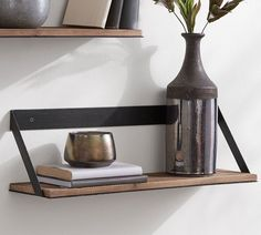Rustic yet modern, our stylishly practical Trenton Shelves are crafted from aged wood and industrial iron. Available in an array of sizes, these shelves belong in almost any room of the home – from storing wine in a dining area to holding Diy Hanging Shelves, Wood Shelves, Display Shelves, Kitchen Shelves, Floating Shelves, Shelving, Shelf Over Door, Space Saving Shelves, Cloud Craft
