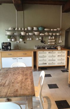 Ikea varde – we bought a french house Kitchen Wood Design, Barn Kitchen, Studio Kitchen, Wooden Kitchen, Open Plan Kitchen, Kitchen On A Budget, Ikea Kitchen, Kitchen Decor, Kitchen Units