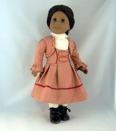 Three piece dress set for Addy 18 American Girl by BringingJoy