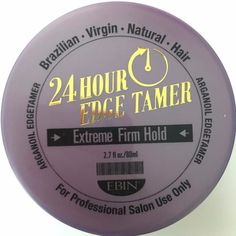 2.7 Ounces Controls & holds down edges Moisturizes & gives Shine Perfect for relaxed & natural hair Infused with Argan Oil from Morocco Available in 2.7oz