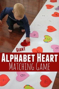 Alphabet Heart Matching Game! This looks like a fun Valentine activity for toddlers up to first grade! Fun From Toddler Approved