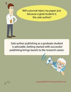#Manuscriptedit @ Will a #journal reject my #paper just because a grad student is the sole #author?   Sole author #publishing as a graduate student is advisable. Getting started with successful publishing brings laurels to the #research career.  #Manuscriptedit #imagepost : http://bit.ly/1NvtPEX