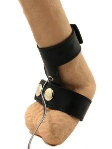 Electrosex Cock And Ball Strap by Zeus Electrosex. $37.57. The Electrosex Cock and Ball Strap snaps around the base of the cock and balls and around the penis, just like any ordinary cock and ball strap used to hold an erection. The only difference is the rows of metal studs through each strap. When plugged in, those metal studs act as the contact points, passing electricity from one strap to the other, leading up to an intense orgasmic experience.