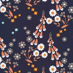 150312 Foxgloves | Navy Quilter's Cotton from Foxglove by Aneela Hoey for Cloud9 Fabrics