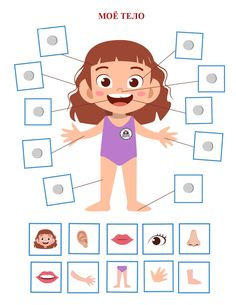 Body Parts Preschool Activities, Preschool Body Theme, Preschool Activity Books, Senses Preschool, Preschool Learning Activities, Preschool Worksheets, Preschool Crafts, Toddler Activities, Teaching Kids