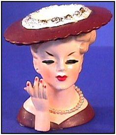.Vintage Head Vase.