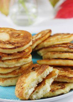 Placki z serem twarogowym. Pancakes with cottage cheese. Crepes, Cottage Cheese Pancakes, Healthy Food, Healthy Recipes, Breakfast, Kitchens, Pancakes, Healthy Foods, Morning Coffee