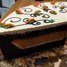 Guess what? It's PIECAKEN TIME!! Come in and get a slice of our pumpkin pie enrobed in chocolate cake. You won't regret it.