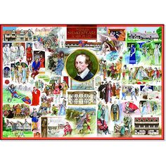 William Shakespeare & His Plays Jigsaw Puzzle from Jigsaw Puzzles Direct - Order today and Get Free Delivery