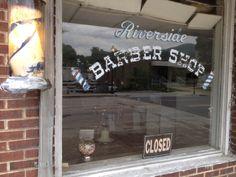 Riverside Barber Shop, Bryson City NC, May31 2014 (1 chair barber shop ...