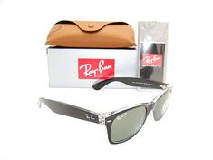 0822f92210 New Authentic Ray-Ban New Wayfarer Black   Green Polarized RB 2132. Online  Shopping   Affiliate · Sunglasses