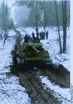 Tiger tank in the woods in Russia 1943