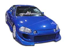 1993-1997 Honda Del Sol Duraflex Blits Body Kit - 4 Piece - Includes Blits Front Bumper Cover (101249) Xtreme Rear Bumper Cover (101250) Aggressive Side Skirts Rocker Panels (101245)