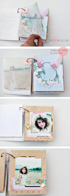 Precioso Dear Lizzy mini album #miniálbum #scrapbooking
